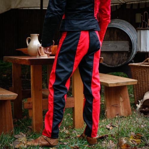 Imperialis Hose rot/schwarz