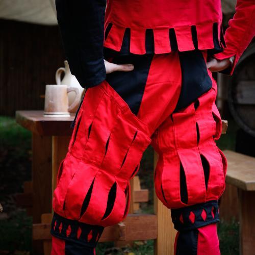Imperialis Hosenbein Streifen rot/schwarz
