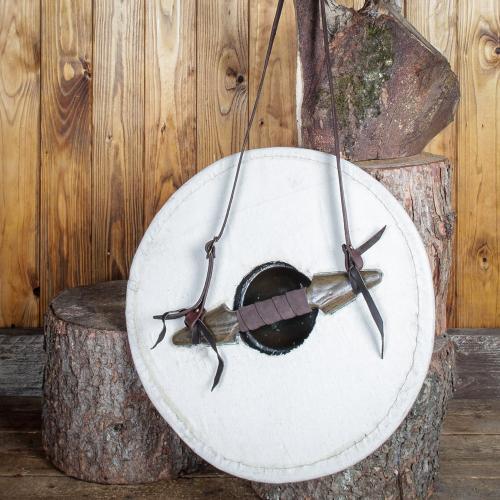 Rundschild mit Stoffoberfläche klein 50cm