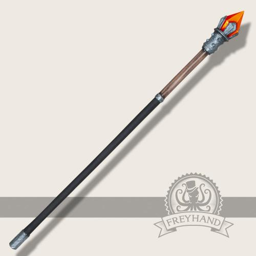Element Stab Feuer (rot) 140cm