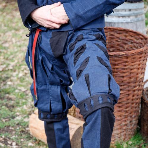 Imperialis Hosenbein Schnitte blau/schwarz