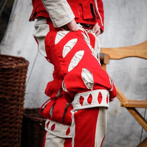 Imperialis Hosenbein Schnitte rot/natur