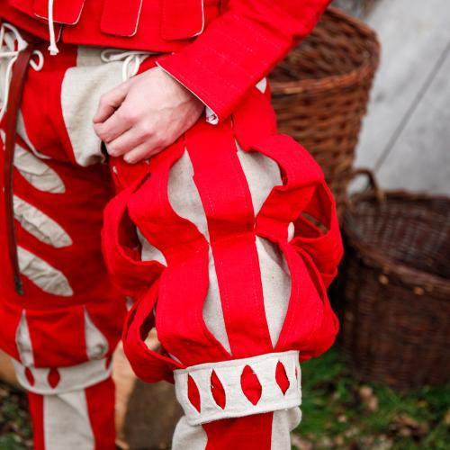 Imperialis Hosenbein Streifen rot/natur