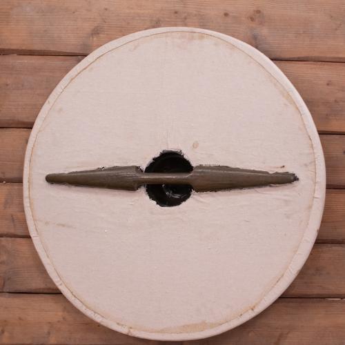 Rundschild mit Stoffoberfläche groß 80cm