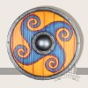 LARP Schild orange blau Motiv, Ornament