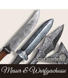 Messer und Wurfgeschosse