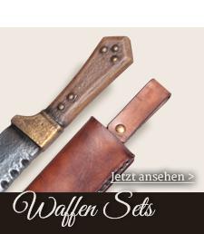 Sets aus LARP Waffen und passenden Lederscheiden