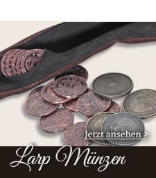 Kupfer, Silber und Gold Münzen für LARP