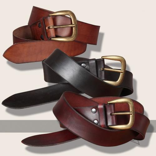 Querkus leather belt, slim