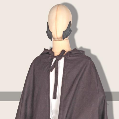 Galanthus hooded cloak, cotton, brown