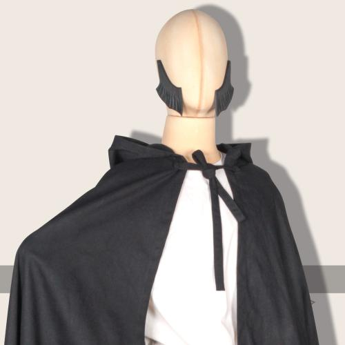 Galanthus hooded cloak, cotton, black