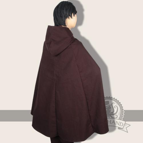 Iva Cape, cotton, brown