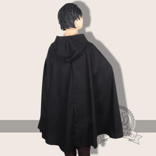 Iva cape, cotton, black