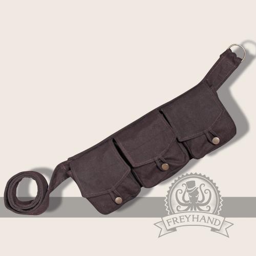 Arum pocket-belt, brown