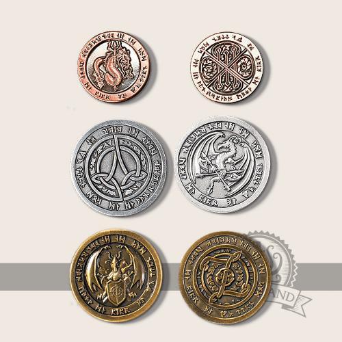 Fire-element coins