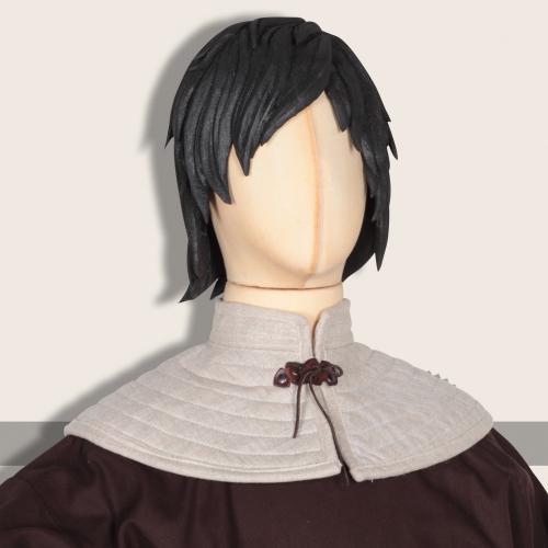 Padded collar Rabenfurth, linen