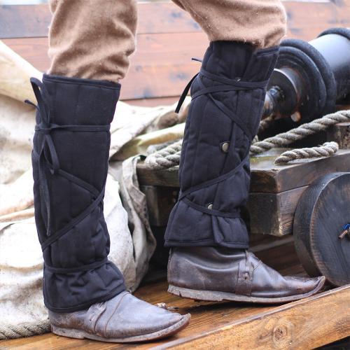 Eisenbrück padded greaves black, large
