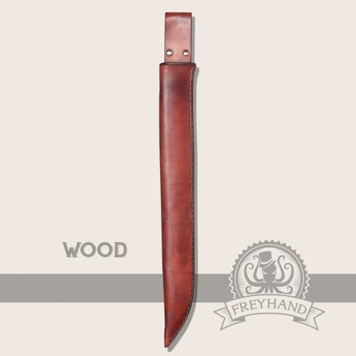 Paeonia leather sheath