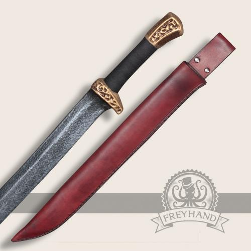 Set Albin with leather sheath Paeonia