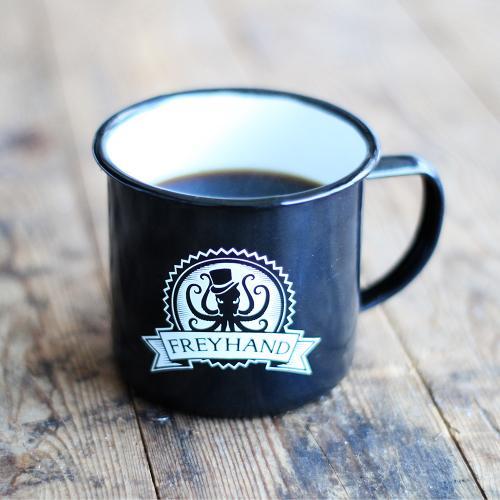 Freyhand enamel mug