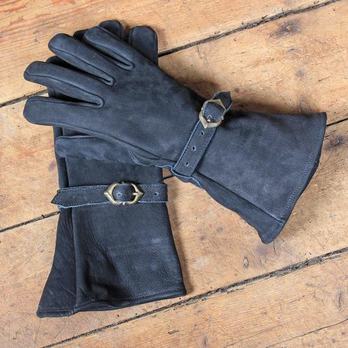 Ulex leather gloves, black