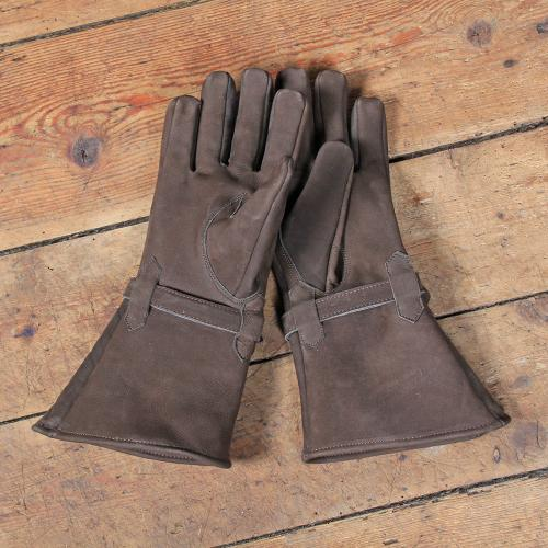 Ulex leather gloves, brown