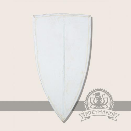 Kite shield with fabric covering, large