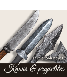Knives and projectiles for LARP and Fantasy