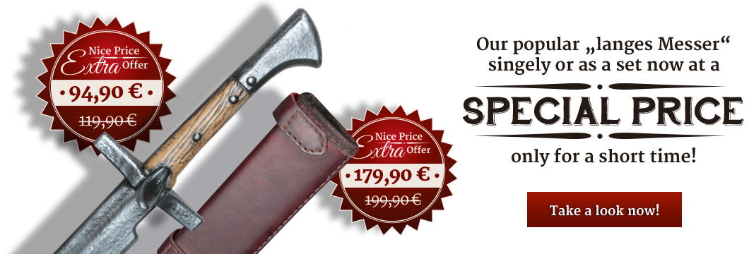 Set of cutlass and leather sheath at a special price