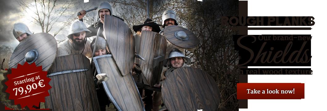 Wooden LARP shields